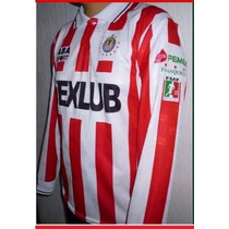 Jersey Chivas Abasport Local Manga Larga