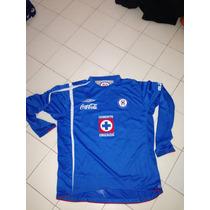 Jersey Cruz Azul, Umbro, Borgetti, Lucero, Manga Larga, L