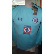 Jersey Under Armour Maquina D Cruz Azul Portero Version Prof