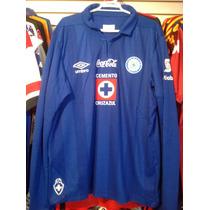 Playera Umbro Cruz Azul Modelo De Liga 2014 Xl Manga Larga