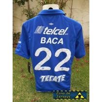 Jersey Umbro Cruz Azul 13-14 Rafael Baca 22 Talla L