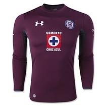 Jersey Cruz Azul Portero Guinda Jugador Under Armour 2014-15