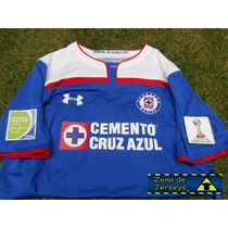Jersey Cruz Azul Con Parches Mundial De Clubes 2014 Local
