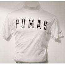 Playera Pumas Algodón Blanca