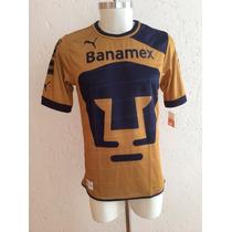 Jersey Pumas Unam Local Color Dorado Temporada 2012-13 Puma