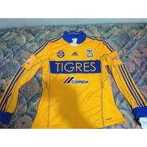 Jersey Tigres Adidas Talla L Manga Larga 2013-2014