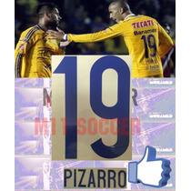 Estampados Tigres 2015-2016 Nuevo, $99 #19 Pizarro , Vinil