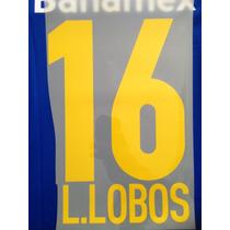 Estampado Original Tigres Visita # 16 L. Lobos 2013-2014