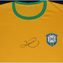 Jersey Autografiado Firmado Romario Seleccion Brasil Neymar