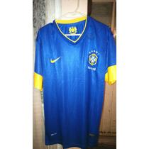Playera Fútbol Selección Nacional De Brasil Color Azul Nike