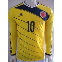 Jersey De La Selección Colombia Adizero James Manga Larga.