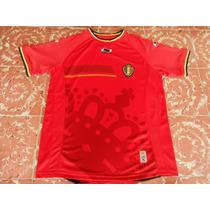 Jersey Belgica Local Burrda Copa Mundial Brasil 2014 Talla M