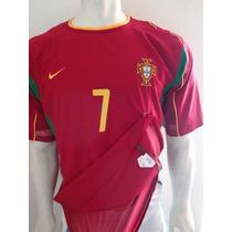 Playera Portugal Ronaldo De Utileria 2002 Doble Tela