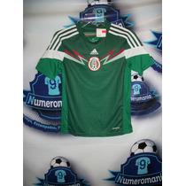 Remate Jersey Selección Mexicana Niño Verde 2014 Mexico