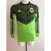 Jersey Selección México Portero 2015-16 Verde Reptil Adidas