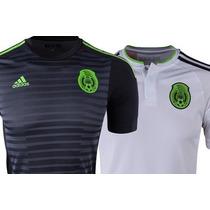 Jersey Seleccion De Mexico Adidas Negro Blanco Original 100%