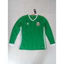 Jersey Adidas De La Selección De México 2016 En Manga Larga