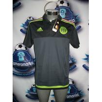 Playera Polo Oficial Adidas Selección Mexicana 2016 Mexico N