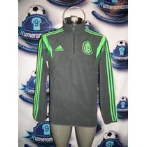Bonita Sudadera Polar Selección Mexicana 2014 Adidas Ligera