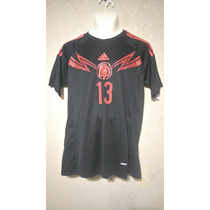 Jersey Mexico Portero Ochoa 13 Mundial 2014 Negro Adizero
