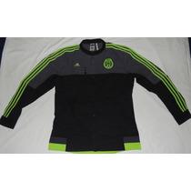 Chamarra Anthem Selección Mexico Marca Adidas