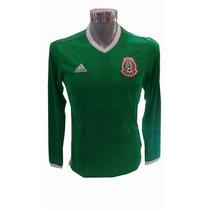 Jersey Adidas Selección Mexicana Manga Larga 2016 Mexico