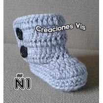 Botas Tipo Ugg Para Bebé Tejidas A Mano Crochet Más Modelos