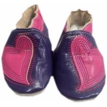 Zapato De Piel Morado Modelo: Co103-36 Talla 3 - 6 Meses