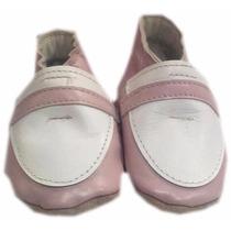 Zapato De Piel Rosa Modelo: Bl902-03 Talla 0 - 3 Meses