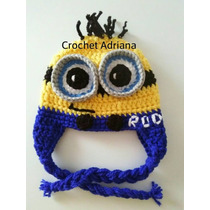 Gorros Tejidos Bebés Minion, Taz, Harry Potter, Kitty, Boo