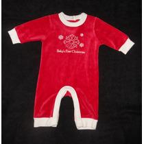 Old Navy Mameluco Rojo Navidad, Baby 1st Christmas 0-3 Meses