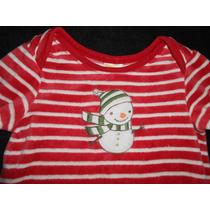 Gymboree! Mameluco Rojo Muñeco Nieve, Navidad 6-12 Meses