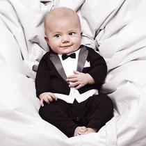 Mameluco Smoking Para Bebé - 100% Algodón