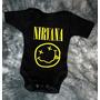 Pañalero Rock Nirvana Ac/dc Kiss Metalica Guns N Roses Etc