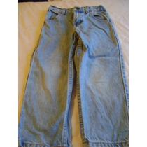 Pantalon De Mezclilla Azul Claro Sears Talla 4t O 48 Meses