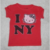 Hello Kitty! Playera Roja Kitty Estilo Vintage, Talla 2 Años