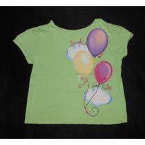 Garanimals! Playerita Verde Con Globos De Colores, 3 Años