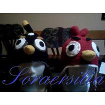 Gorritos Tejidos Angry Birds, Niños, Niñas, Bebes