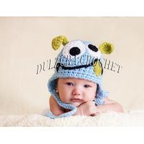 Gorros Tejidos Crochet Bebés Niña Niño Regalo Babyshower Vbf