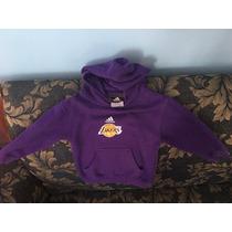 Sudadera Infantil Adidas Lakers Con Gorro 100% Original