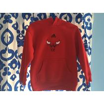 Sudadera Infantil Adidas Chicago Bulls C/gorro 100% Original