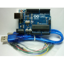 Arduino Uno R3 + Cable Usb Atmel Atmega328, Robots