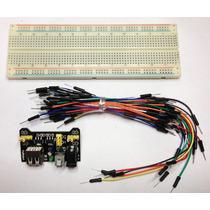 Protoboard+ Fuente Mb102+ Dupont Breadboard Sg90 Hc-05 L298