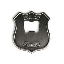 Destapador Corcholatas De Placa De Policía De Metal