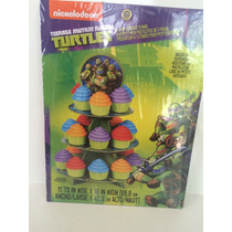 Base Para 24 Cupcakes De Tortugas Ninja Marca Wilton
