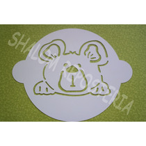 *planilla Estencil Koala Baby Fondant Cupcake Pastel*