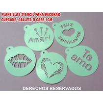 Planilla Plantilla Stencil Fondant Cupcake Pastel Galleta