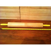 Rodillo Giratorio De Madera Para Amasar 48cm