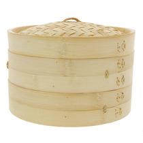 Vaporera De Bambu 30cms Cocina Sano Sin Grasa China Japones