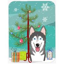 Árbol De Navidad Y De Alaska Malamute De Cristal Tabla De C